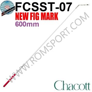Chacott White Stick with Red Rubber Grip (Point flexible) (600 mm) 301501-0007-98