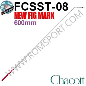 Chacott 698 Silver Metallic Stick with Red Grip (Standard) (600 mm) 301501-0008-98