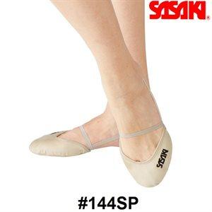 Sasaki R.G. Zapatillas de Media Punta Beige de Microfibra #144SP