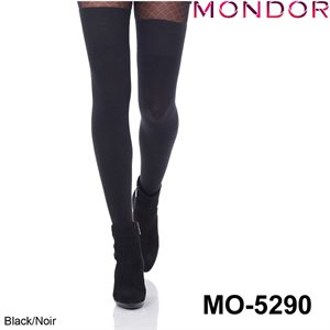 Mondor Black Over-the-knee Socks 05290