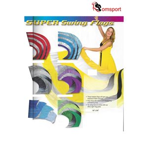 Romsports Super Swing Dancing Flags - Poly Silk - NRF-SS4484
