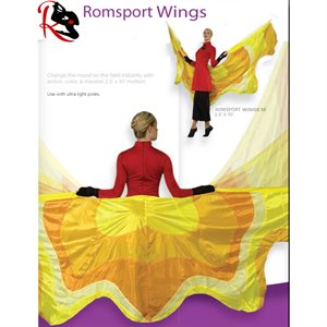 Romsports Wings Poly Silk Flags NRF-W2510