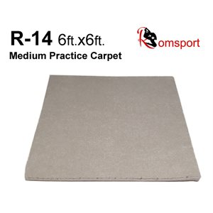 RHYTHMIC GYMNASTICS PRACTICE CARPET RT-14-6X6-NB WITHOUT UNDERPADDING