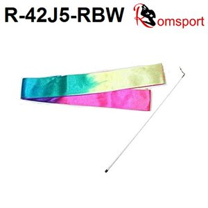 Romsport Ensemble Ruban Arc-en-ciel (2.2 m) & Bâton Performance R-42J5-RBW