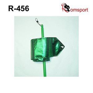 Romsports Green Metallic Performance Ribbon (3.6 m x 6 cm) & Stick (50 cm) Set R-456