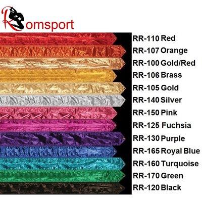 Romsports Metallic Farbic Ribbon (3.65 m x 9 cm) RR-100R ( 3 weeks delivery)